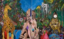 Eden Garden - 152 x 122 cm - each canvas - 2016