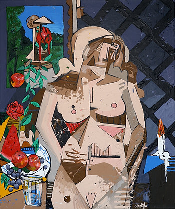 Standing nude with still life (repentance)