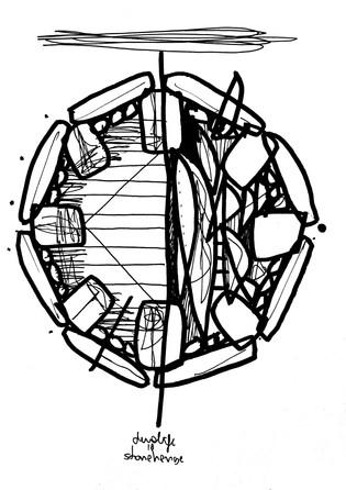 Stonehenge - 21cm x 15cm