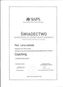 SWPS Coaching dyplom
