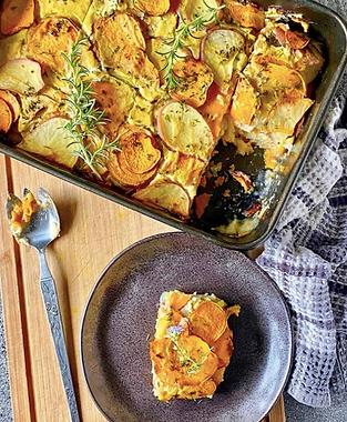 Vegan Mixed Potato Bake