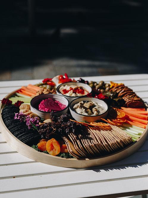 Dip + dipper platter - large