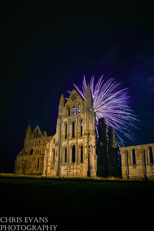 abbey fire works canvas