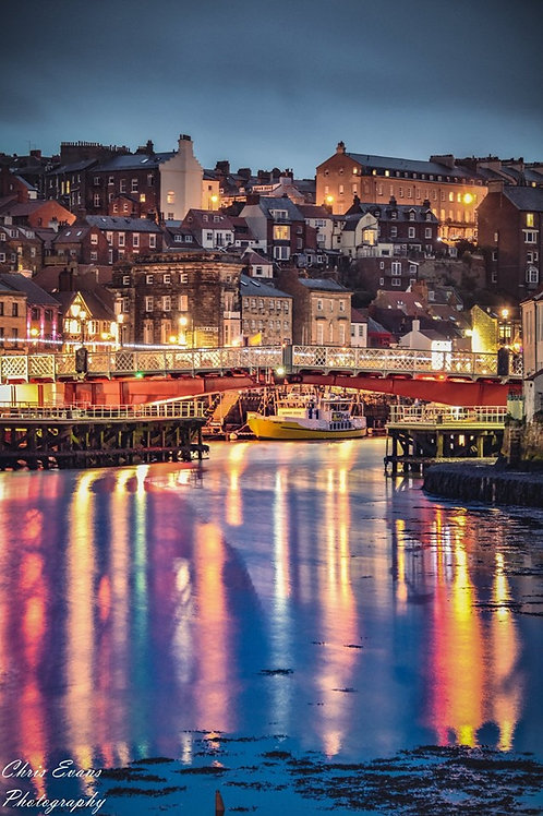whitby night lights canvas