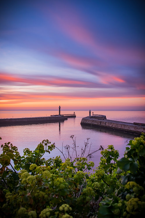 Whitby sunset print