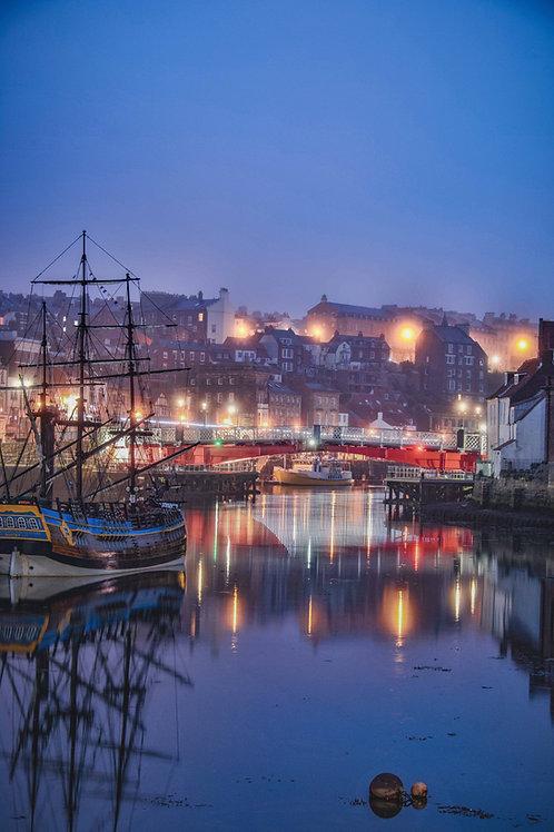 night harbour print