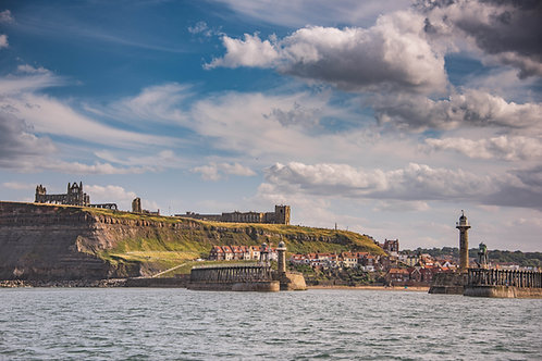see whitby from the sea canvas