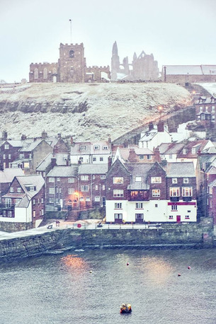 whitby in snow