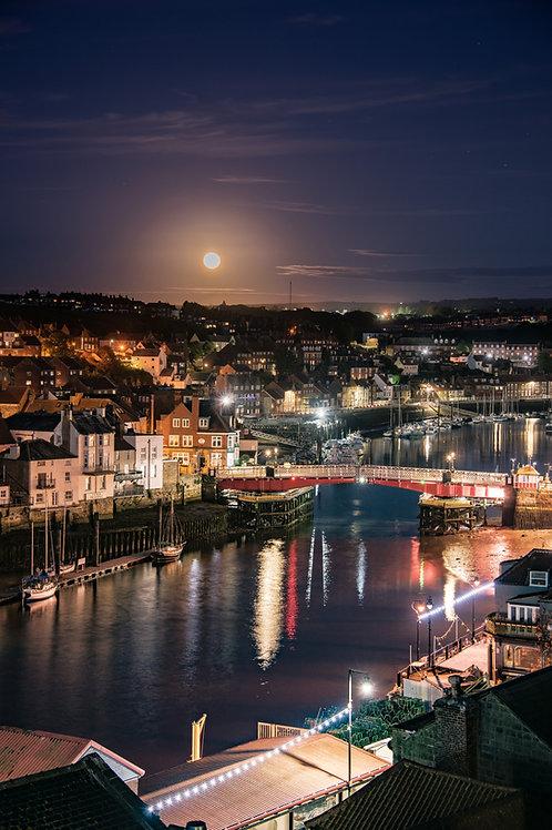 moon rise harbour print