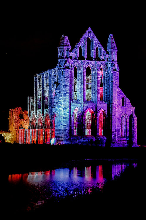 illuminated abbey 2 canvas