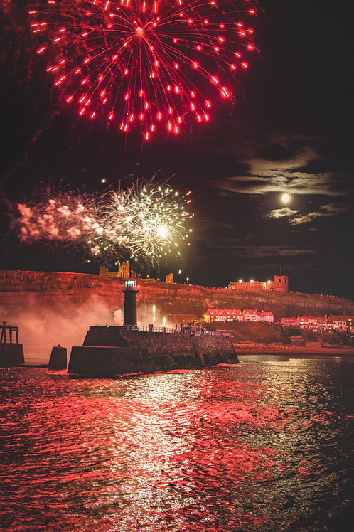 Whitby fire works print