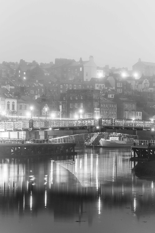 foggy bridge canvas