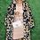 Thumbnail: Faux Fur Leopard Print Maxi Coat