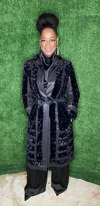 Faux Fur and Vegan leather Coat
