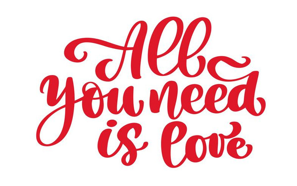 """""""all you need is love""""?"""