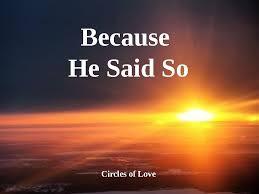 Han sa det..