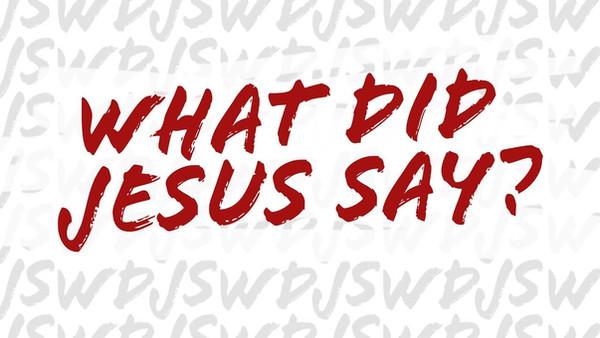 Sa Jesus virkelig det?