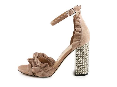 Sandales talon en relief