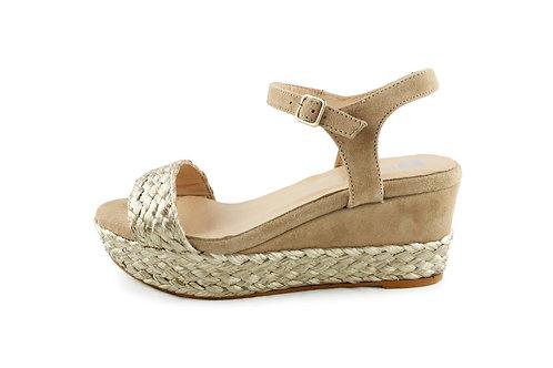Sandales à plateforme corde