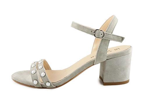 Sandales double bride perlée
