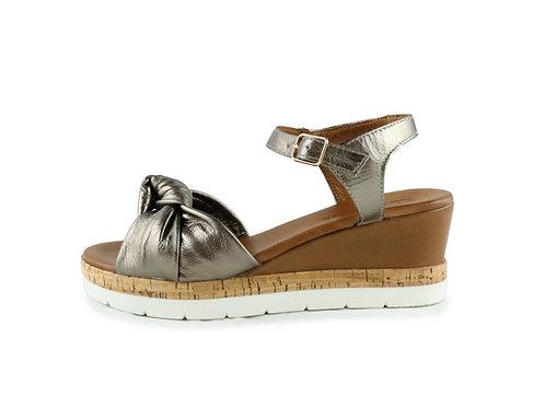 Sandales compensées nouées