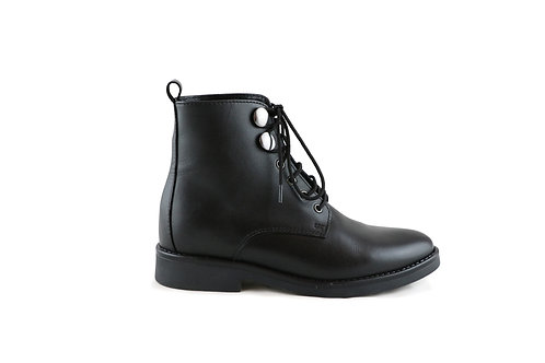 Bottines en cuir à lacets