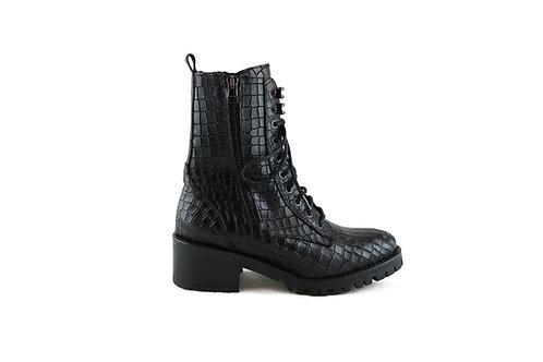 Boots écailles à lacets