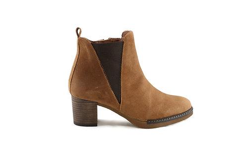 Boots en daim châtain