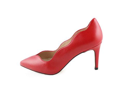 Escarpins décolletés rouge