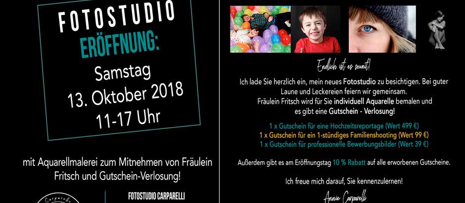 Die Eröffnung naht - Save the Date - 13.10.2018