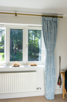Pencil pleat curtains - Newdigate