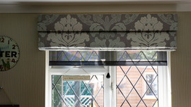 Dining room Roman blind