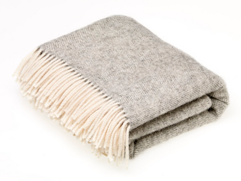 Bronte by Moons - Natural Collection Herringbone Throw