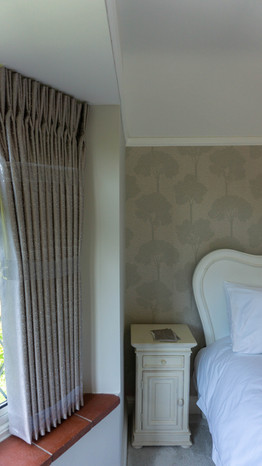 Double pinch pleat sill length curtains