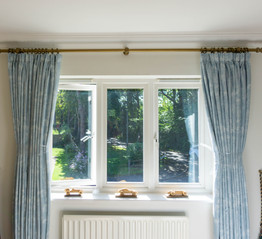 Pencil pleat curtains - Newdigate