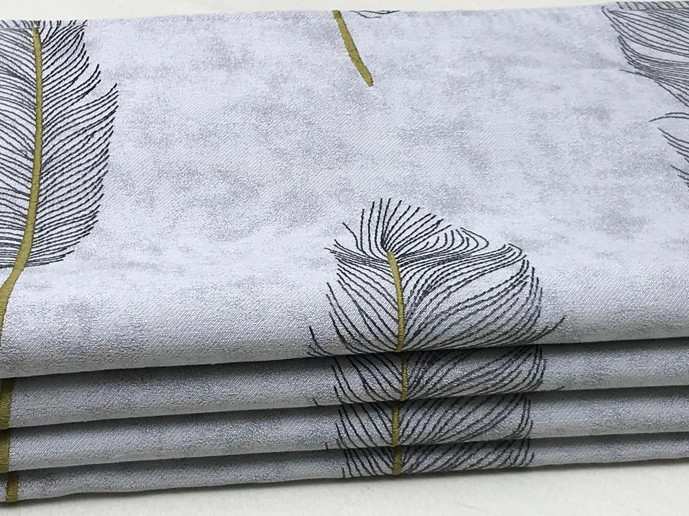 Beautiful grey feather roman blinds
