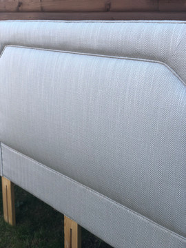 Laura Ashley fabric - Reupholstered headboard