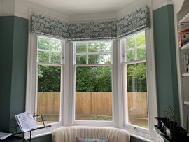 Roman Blinds - Bay Window