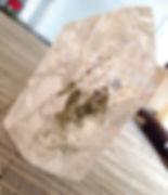cristal de roche inclusion chlorite