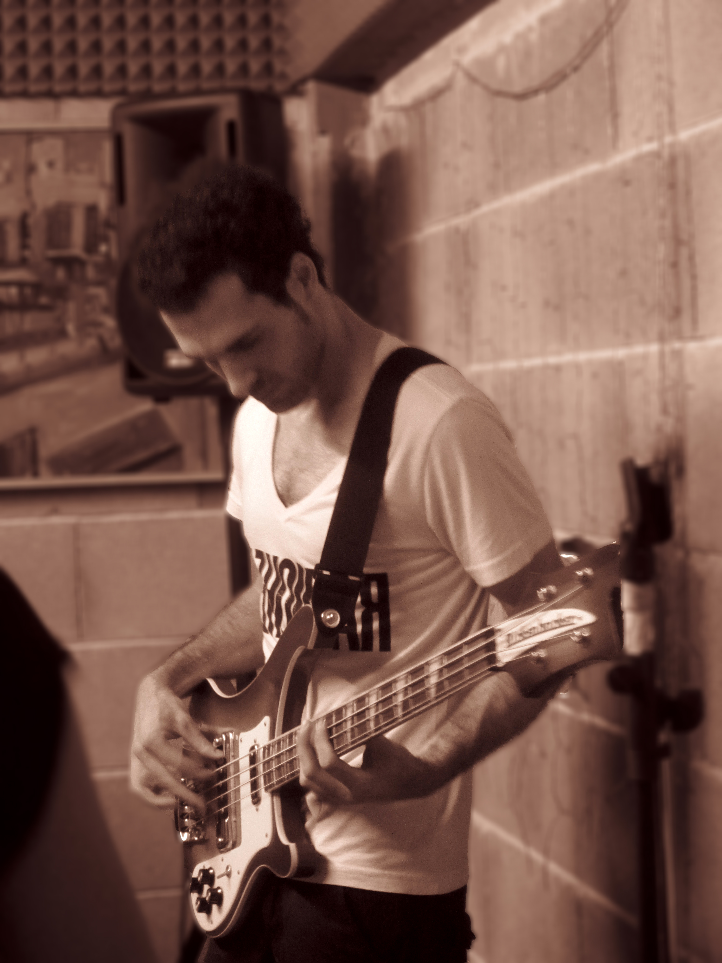 Gianluca Magalotti playing bass