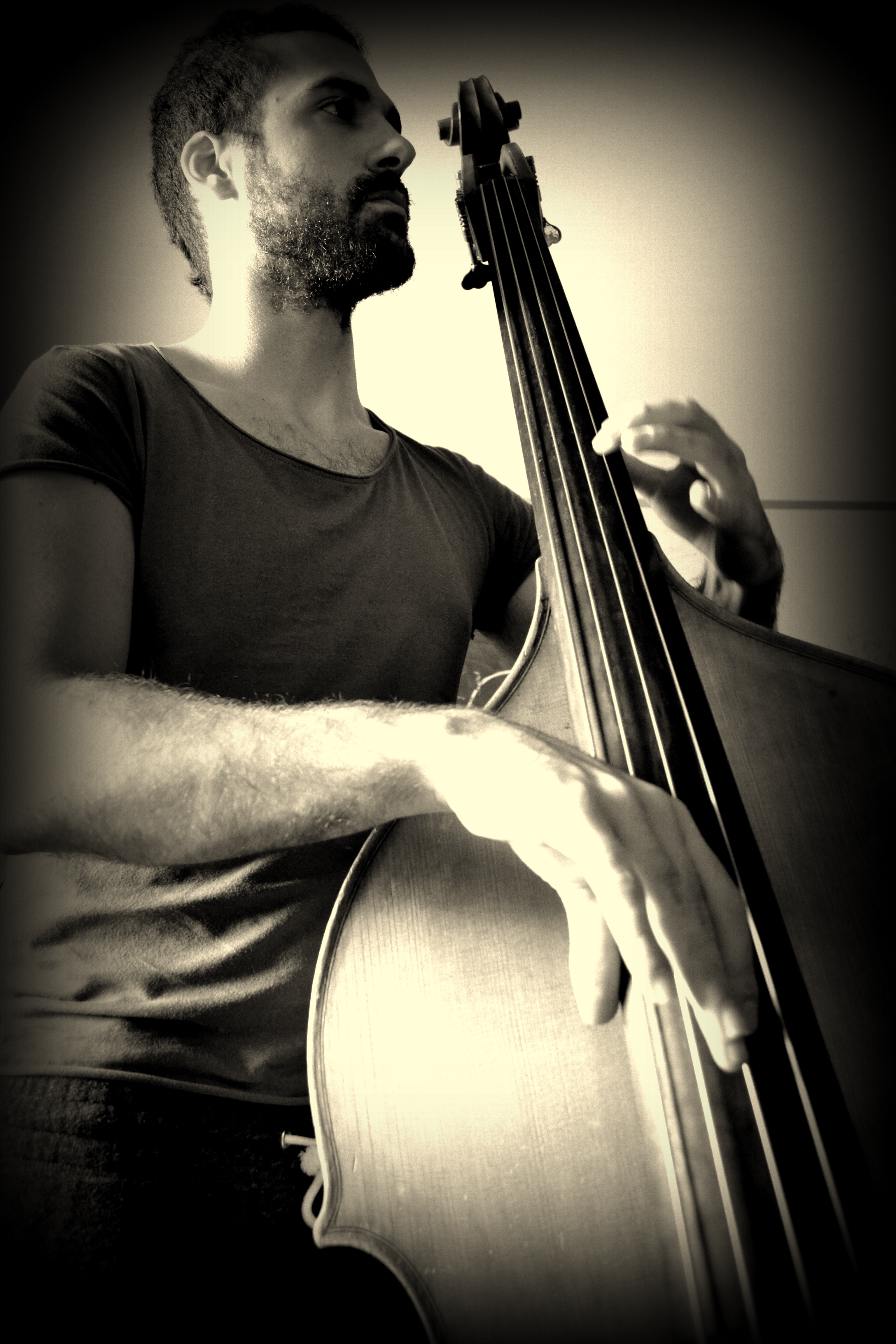 Gianluca Magalotti on upright bass