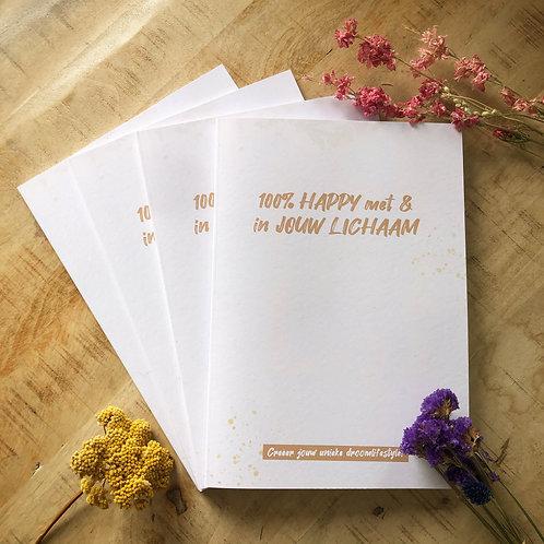 BOEK 100% HAPPY met & in jouw lichaam [magazine]
