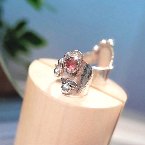 Rose Cut Tourmaline Ring