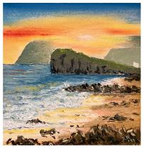 September sunset, Kintyre.PNG
