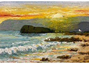 Kintyre sunset from Brunerican Bay.PNG