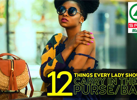 12 Things every lady should carry in their purse/bag