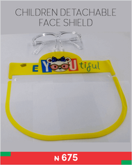 Children detachable face shield