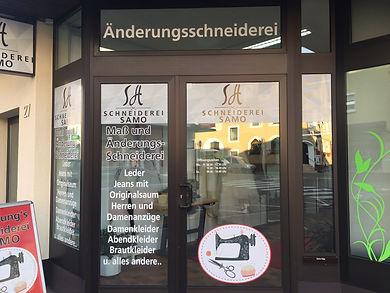Ladengeschäft Schneiderei Samo