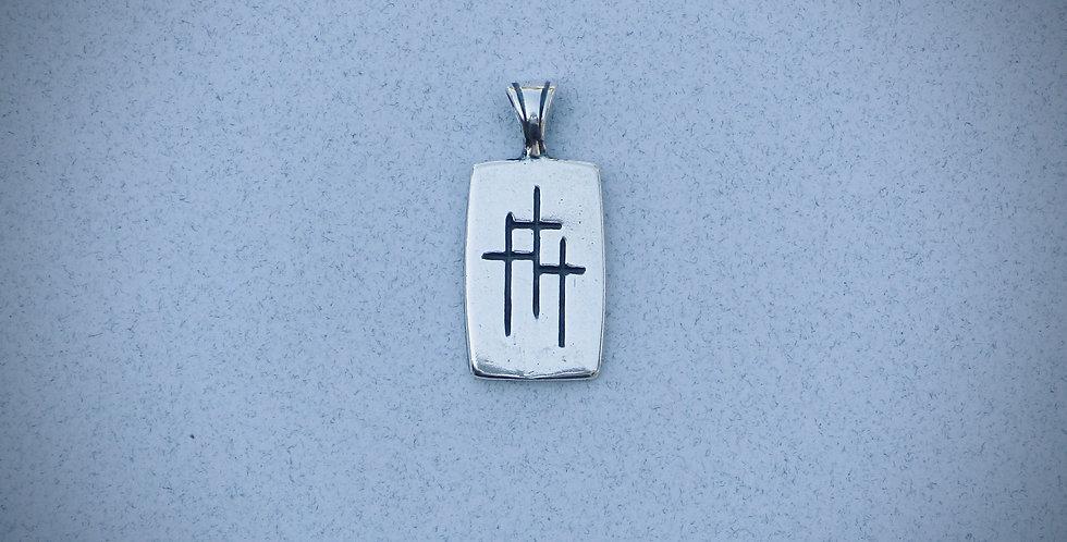 Rectangular 3 Crosses Pendant