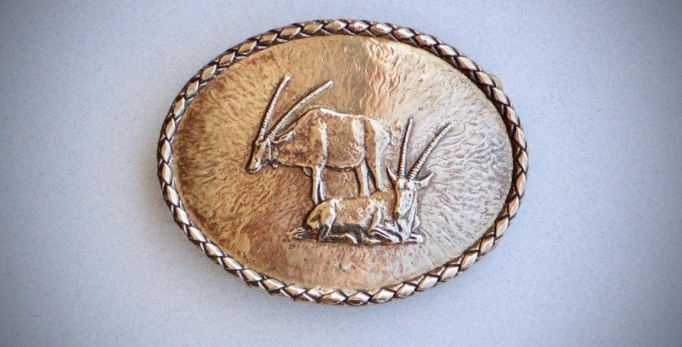 Oryx Belt Buckle in Silicon Bronze